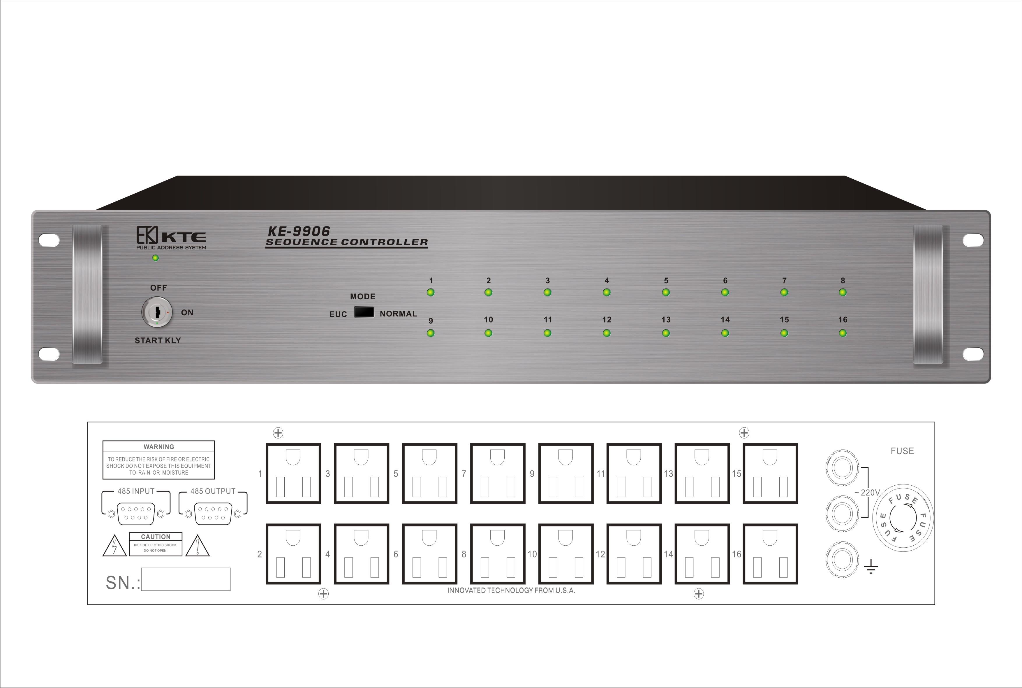 十六路电源时序器 ke-9906